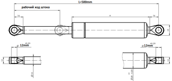 Купить газлифты для механизма 582 suspa TYP 16-6 016 газ-лифт амортизатор газовые пружины для откидной шкаф кровати