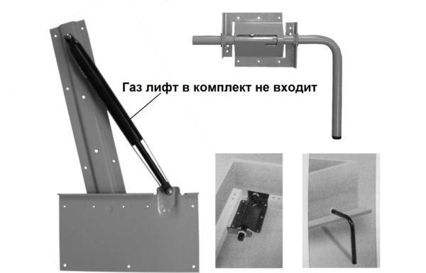 Купить механизм № 582 для шкаф кровати трансформера (откидная кровать-невидимка)
