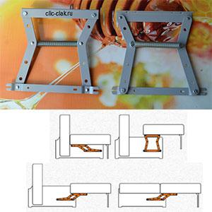 Купить механизм трансформации дивана Тик-так малый низкий 402, МТСМ-24, 579, 343 пантограф