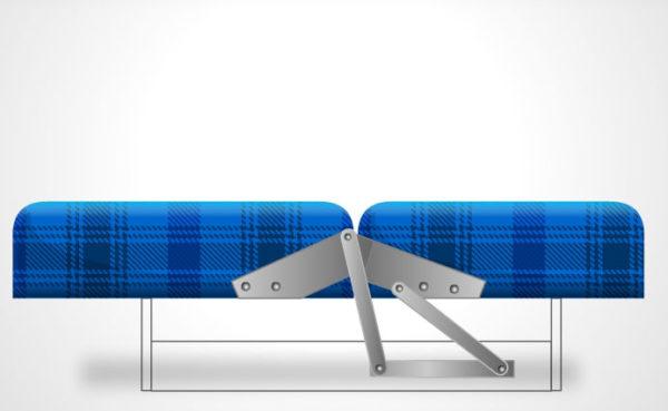 Купить механизм трансформации 504 ОЗМФ для кровати дивана-книжка МПС22 ФРМЗ 280
