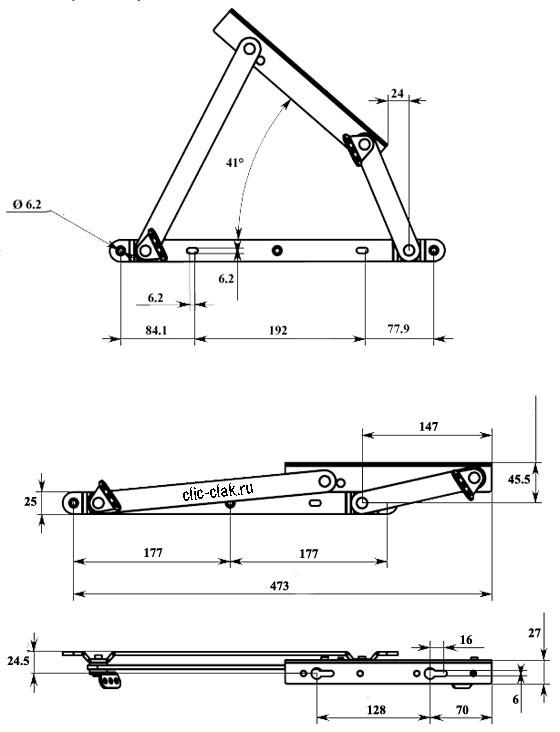 купить механизм 506 подъема кровати 506/1 комкор подъемник планка гнутая